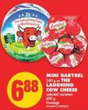 Mini Babybel - 240 g or The Laughing Cow Cheese - 400 g