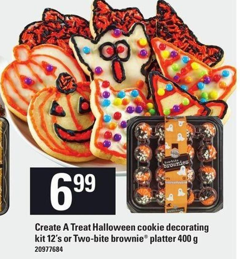 Create A Treat Halloween Cookie Decorating Kit 12's Or Two-bite Brownie Platter 400 G