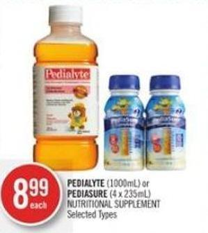 Pedialyte (1000ml) or Pediasure (4 X 235ml) Nutritional Supplement