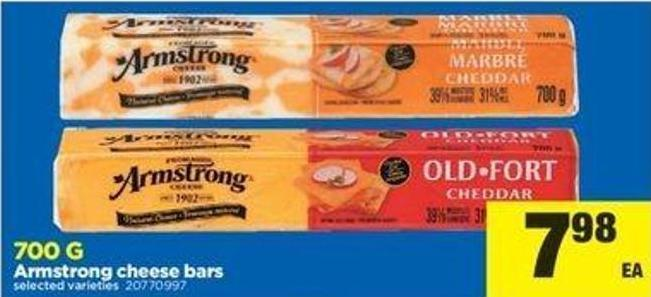 Armstrong Cheese Bars - 700 G