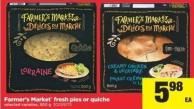 Farmer's Market Fresh Pies Or Quiche - 500 G