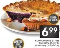 Compliments 9in Pies