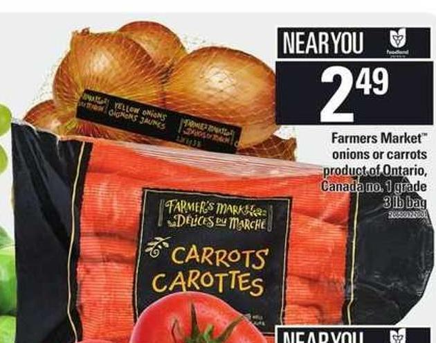 Farmers Market Onions Or Carrots - 3 Lb Bag