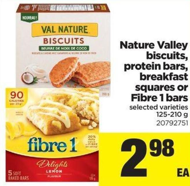 Nature Valley Biscuits - Protein Bars - Breakfast Squares Or Fibre 1 Bars - 125-210 G