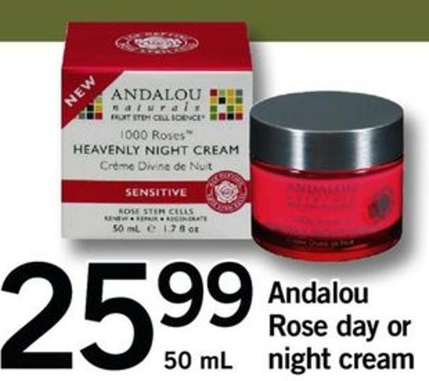 Andalou Rose Day Or Night Cream - 50 Ml