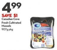 Canadian Cove Fresh Cultivated Mussels