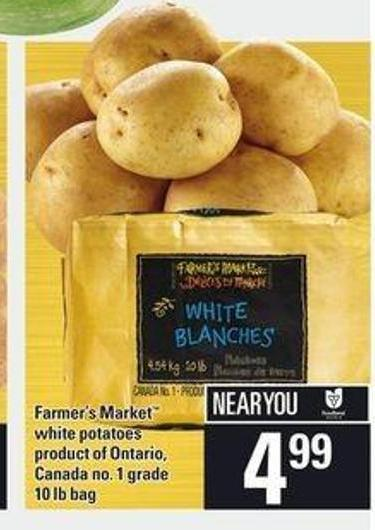 Farmer's Market White Potatoes - 10 Lb Bag