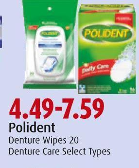 Polident Denture Wipes 20
