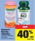 Nature's Bounty Vitamins