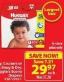 Huggies Snug & Dry - Little Movers or Little Snugglers Econo Diapers