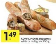 Compliments Baguettes White or Multigrain 300 g