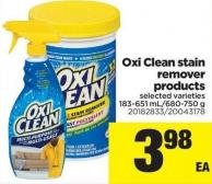 Oxi Clean Stain Remover Products - 183-651 Ml/680-750 g