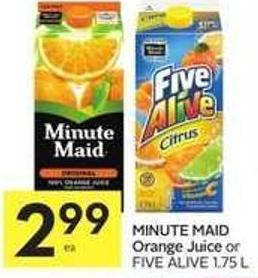 Minute Maid Orange Juice Five Alive 1.75 L