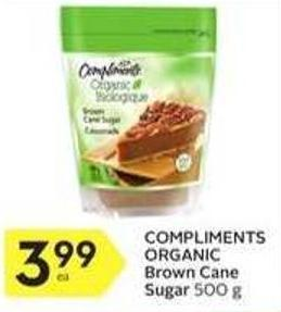 Compliments Organic Brown Cane Sugar