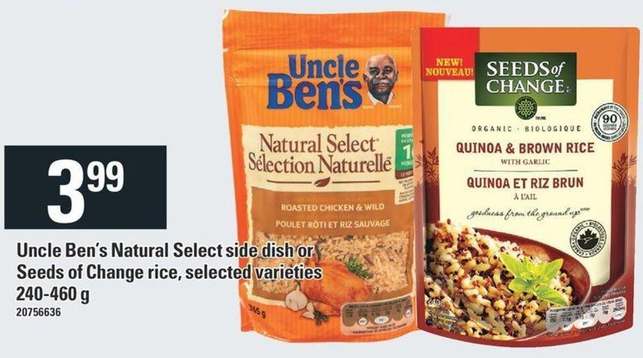 Uncle Ben's Natural Select Side Dish Or Seeds Of Change Rice - 240-460 g