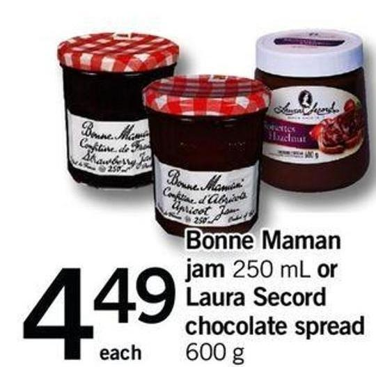 Bonne Maman Jam 250 Ml Or Laura Secord Chocolate Spread 600 G
