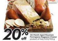 30-month Aged Mountain Parmigiano Reggiano Cheese