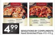 Sensations By Compliments Hand Stretched Pizza 410-419 g