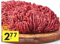 Regular Ground Beef Ground In-store Daily 6.11/kg