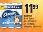 Charmin Bath Tissue 12=48 Rolls Or 24=48 Rolls