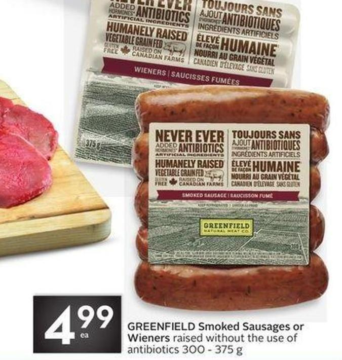 Greenfield Smoked Sausages or Wieners