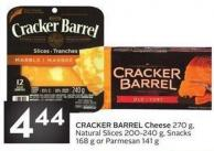 Cracker Barrel Cheese 270 Gnatural Slices 200-240 g - Snacks168 g or Parmesan 141 g