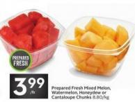 Prepared Fresh Mixed Melon - Watermelon - Honeydew or Cantaloupe Chunks
