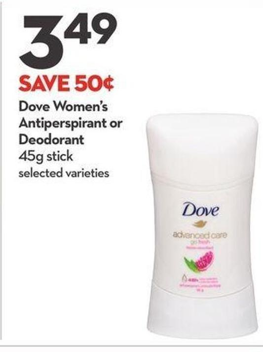 Dove Women's Antiperspirant or Deodorant