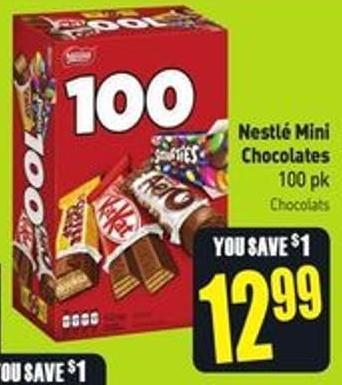 Nestlé Mini Chocolates 100 Pk