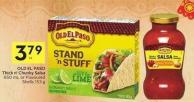 Old El Paso Thick N' Chunky Salsa 650 mL or Flavoured Shells 153 g - 20 Air Miles Bonus Miles