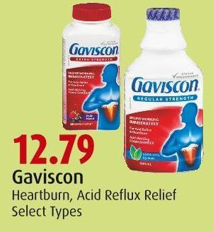 Gaviscon Heartburn - Acid Reflux Relief Select Types