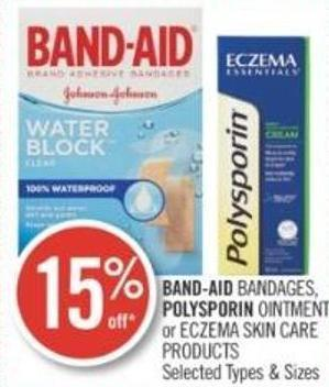 Band-aid Bandages - Polysporin Ointment or Eczema Skin Care Products