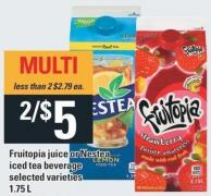 Fruitopia Juice Or Nestea Iced Tea Beverage - 1.75 L