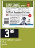 PC Free From Wieners - 375 g