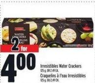 Irresistibles Water Crackers