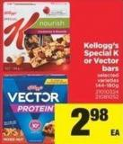 Kellogg's Special K Or Vector Bars - 144-180g