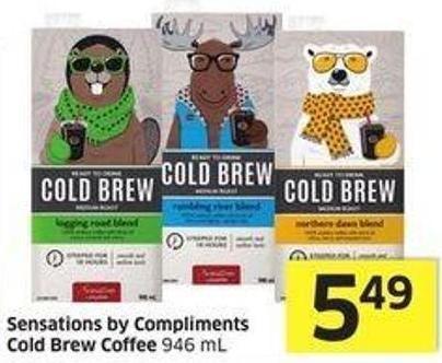 Sensations By Compliments Cold Brew Coffee 946 mL