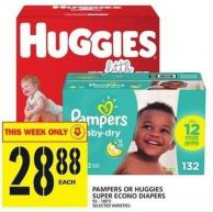 Pampers Or Huggies Super Econo Diapers