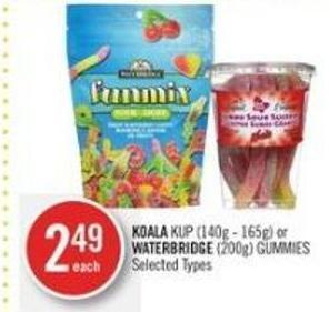 Koala Kup (140g - 165g) or Waterbridge (200g) Gummies