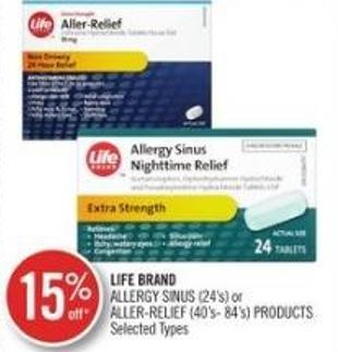 Life Band Allergy Sinus (24's) Or Aller-relief (40's-84's)