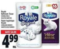 Royale Bathroom Tissue 8 Double Rolls