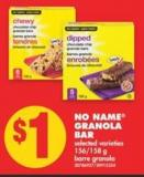 No Name Granola Bar - 156/158 g