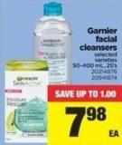 Garnier Facial Cleansers - 50-400 Ml/25's