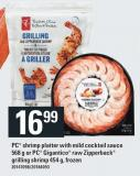 PC Shrimp Platter With Mild Cocktail Sauce 568 G Or PC Gigantico Raw Zipperback Grilling Shrimp 454 G