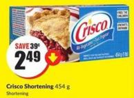 Crisco Shortening - 454 g