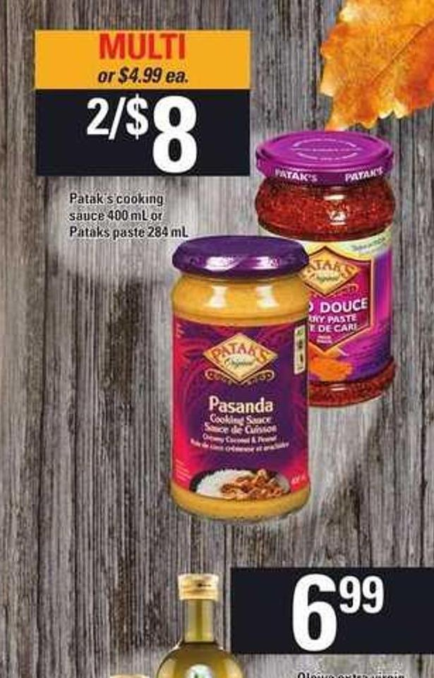 Patak's Cooking Sauce 400 mL Or Pataks Paste 284 mL
