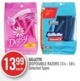 Gillette Disposable Razors 15's - 18's