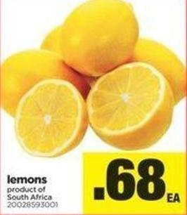Lemons Product of South Africa