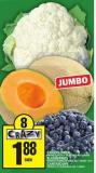 Cauliflower Or Blueberries Or Cantaloupe