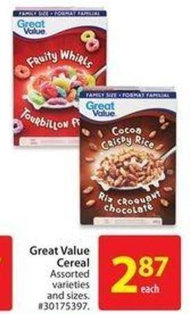 Great Value Cereal